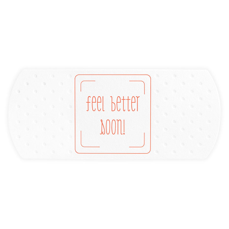 Color Box Letterpress Feel Better Soon Giant Bandage Die-Cut Get Well Card - GREER Chicago Online Stationery Shop