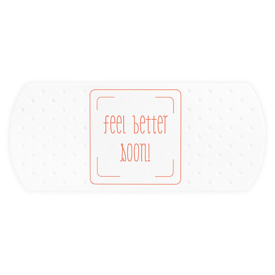 Color Box Letterpress Feel Better Soon Giant Bandage Die-Cut Get Well Card