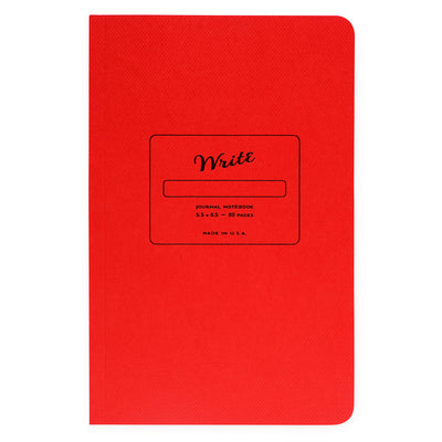 Paper Journal Colors Series | In Three Colors Write Notepads & Co. Reddest Red - GREER Chicago