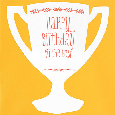 Color Box Letterpress Trophy Die-Cut Birthday Card - GREER Chicago Online Stationery Shop