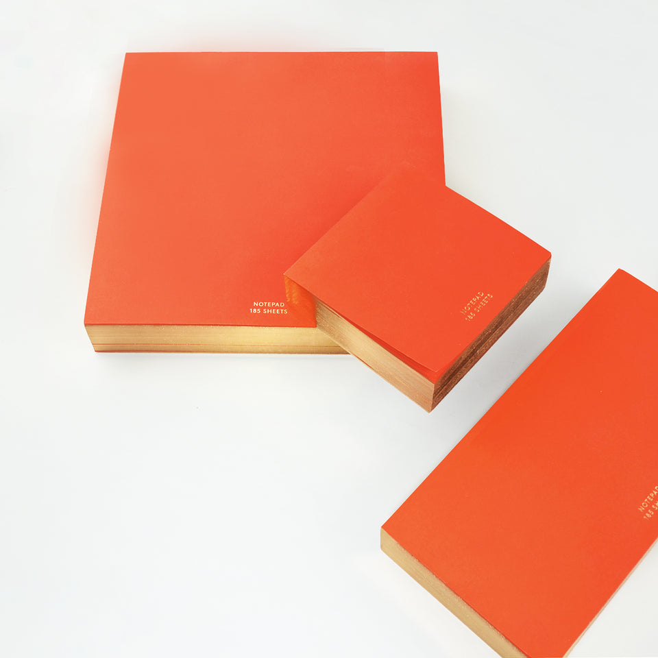 Wms & Co ColorPad Red, Yellow Or Blush with Gold Edges | 3 Sizes Each