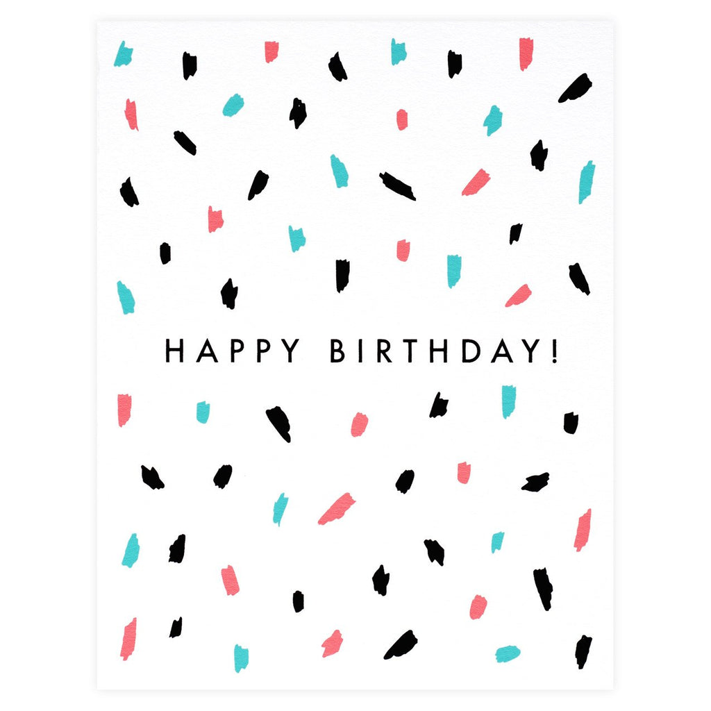 The Paper Cub Confetti Birthday Card - GREER Chicago Online Stationery Shop