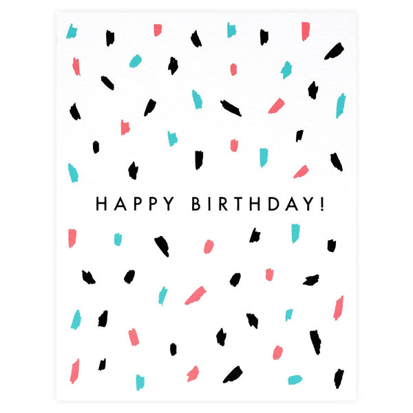 Confetti Birthday Card - GREER Chicago Online Stationery
