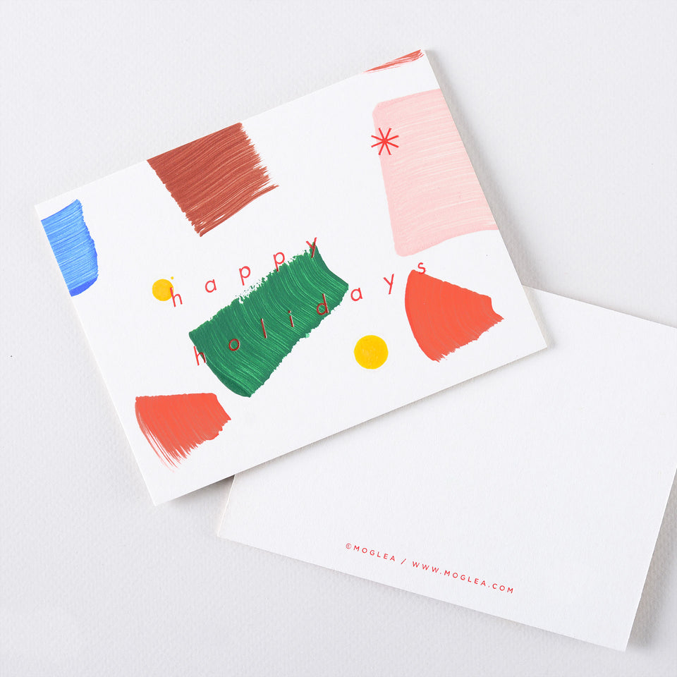 Moglea Confetti Hand-Painted Holiday Cards Boxed