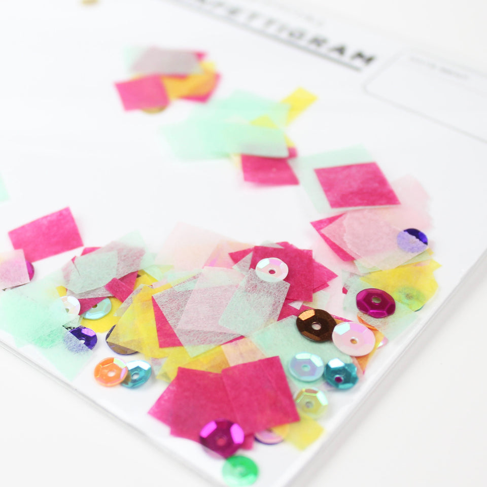 Inklings Paperie Confettigram Birthday Brights Greeting Card