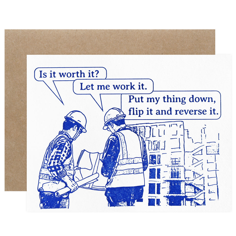 Guttersnipe Press Construction Work It Greeting Card