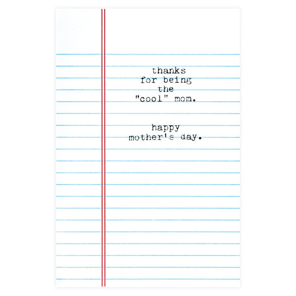 Cool Mom Mother's Day Card - GREER Chicago Online Stationery