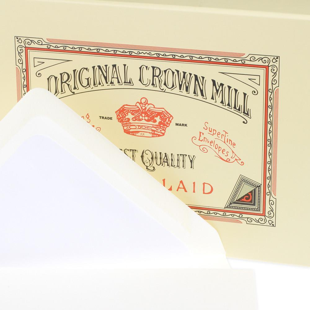 Classic Laid Note Card Presentation Box Cream By Crown Mill - 3