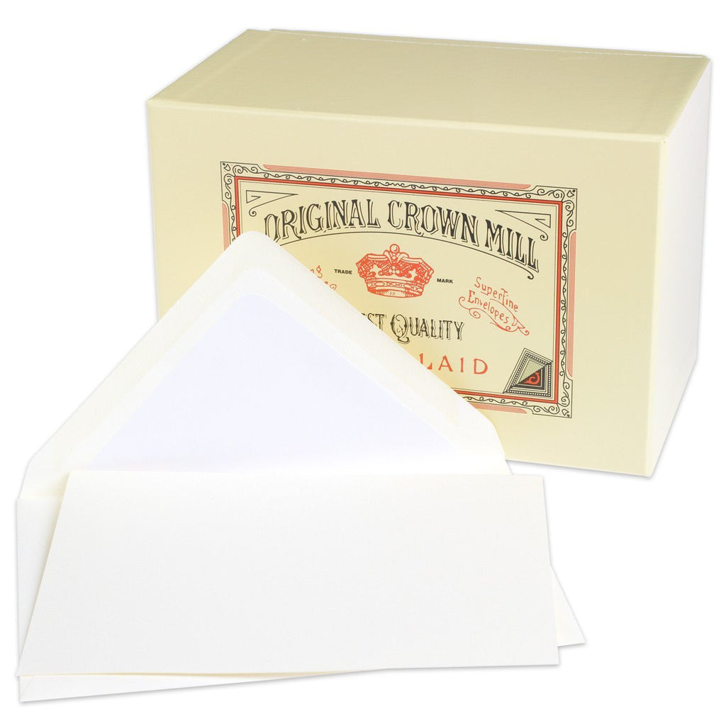 Classic Laid Note Card Presentation Box Cream By Crown Mill - 1