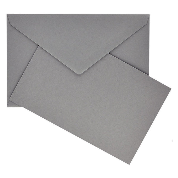 Crown Mill Color Vellum Small Flat Note Cards Boxed Grey - GREER Chicago Online Stationery Shop