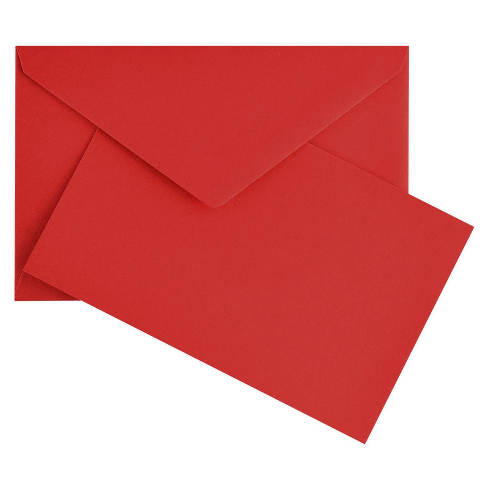 Crown Mill Color Vellum Finish Flat Note Cards Boxed Red
