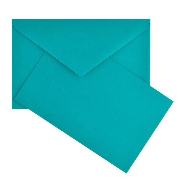 Crown Mill Color Vellum Small Flat Note Cards Boxed Teal - GREER Chicago Online Stationery Shop