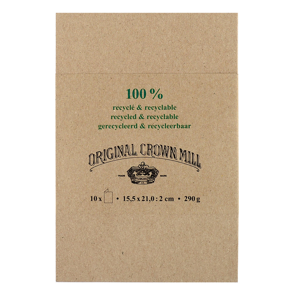 Crown Mill Crown Mill 100% Recycled Stationery | Folded Cards and Envelopes