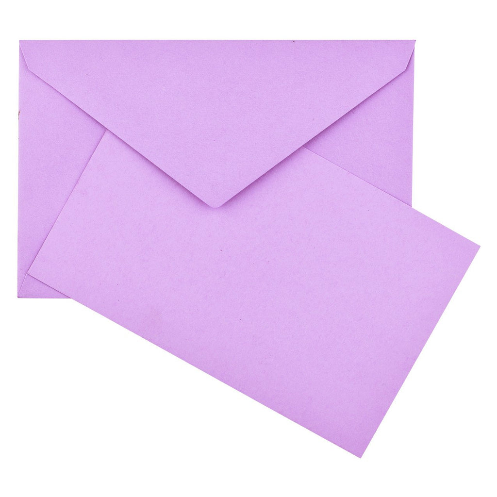 Color Vellum Small Flat Note Cards Boxed Lavender By Crown Mill - 1
