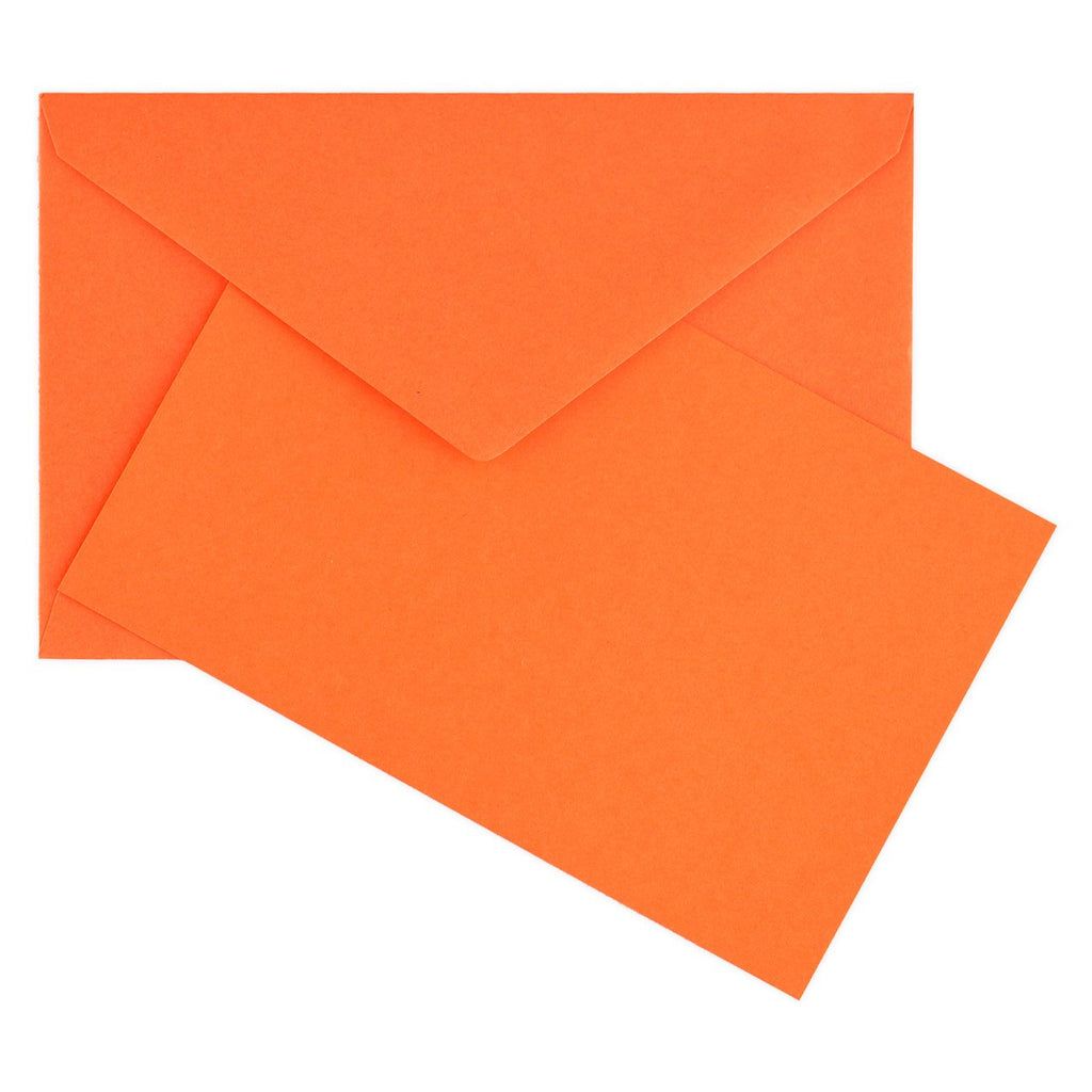 Color Vellum Small Flat Note Cards Boxed Orange