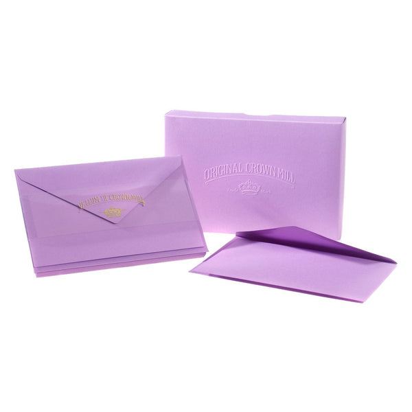 Crown Mill Color Vellum Small Flat Note Cards Boxed Lavender - GREER Chicago Online Stationery Shop