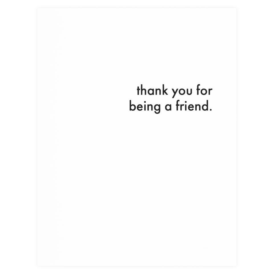 Cult Paper Thank You For Being A Friend Greeting Card