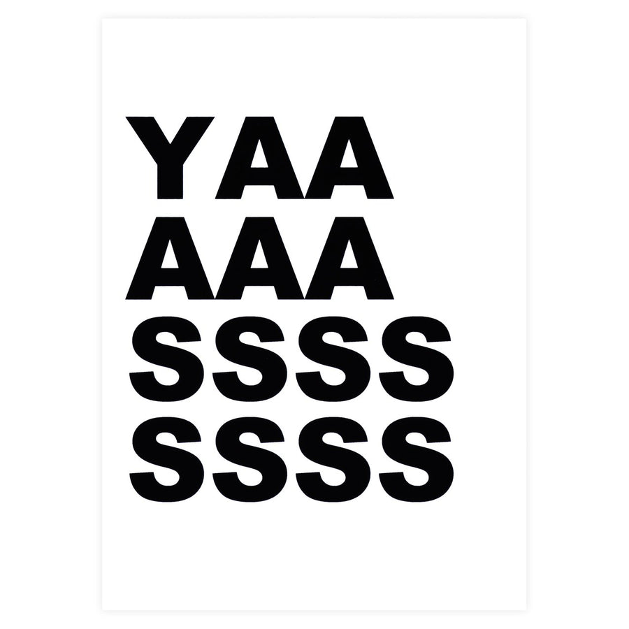 Cult Paper Yaaassss Greeting Card - GREER Chicago Online Stationery Shop