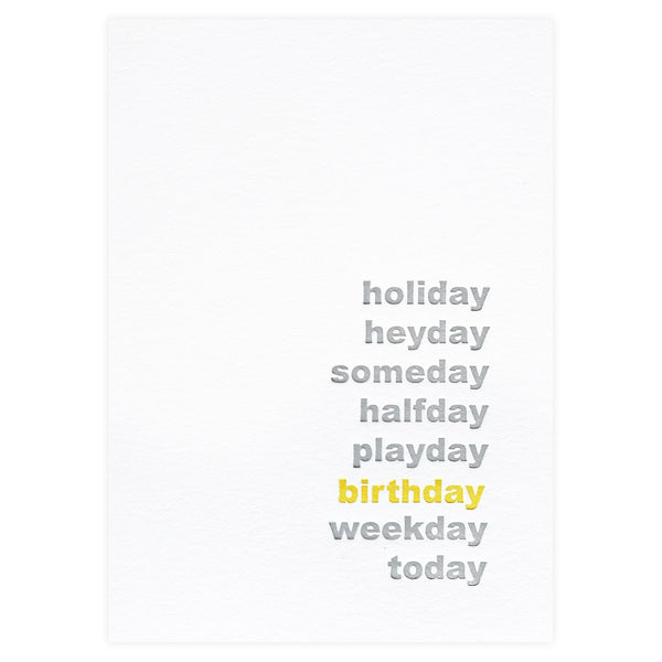 Dahlia Press Happy Day Birthday Card - GREER Chicago Online Stationery Shop