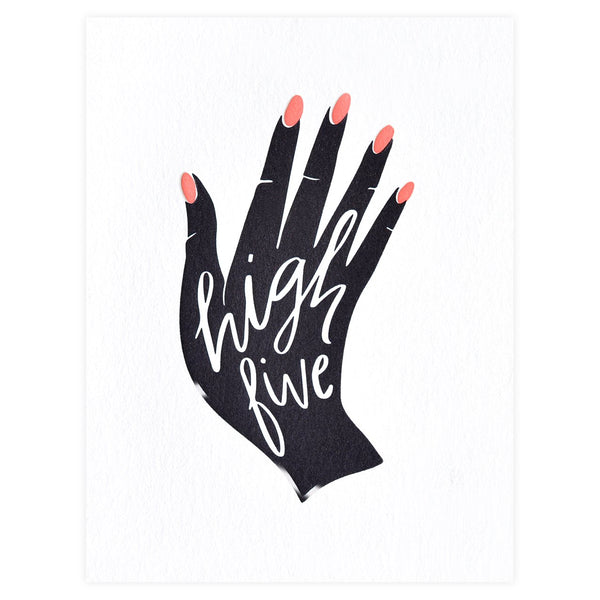 Dahlia Press High Five Congratulations Card - GREER Chicago Online Stationery Shop