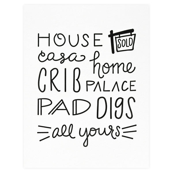 House New Home Card By Dahlia Press