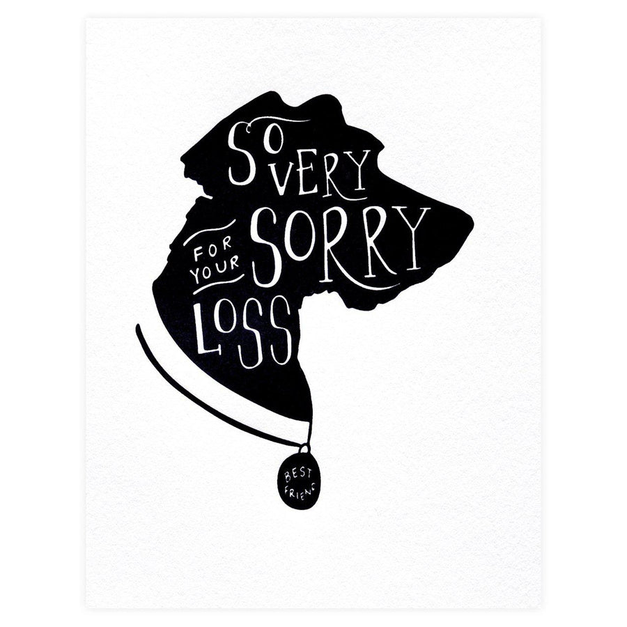 Dahlia Press So Very Sorry Dog Pet Sympathy Card