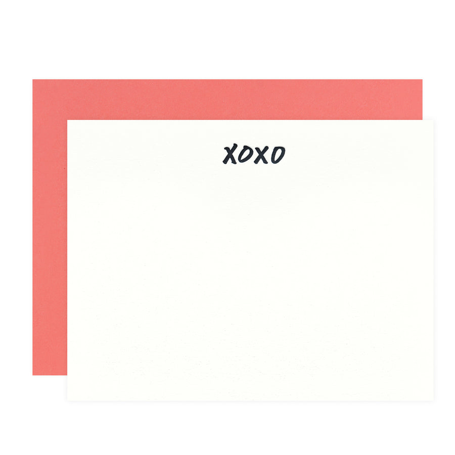 Dahlia Press XOXO Flat Note Cards Boxed - GREER Chicago Online Stationery Shop