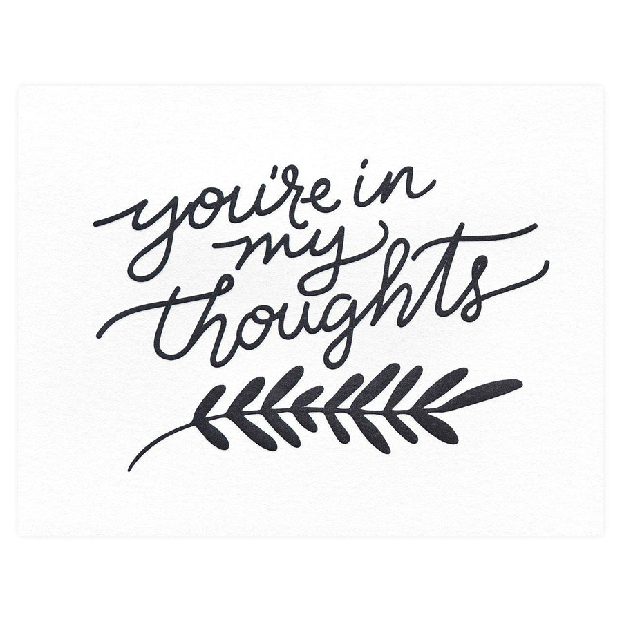 Dahlia Press You're in my Thoughts Sympathy Card - GREER Chicago Online Stationery Shop