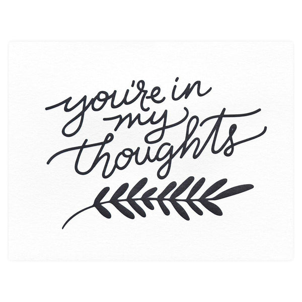 You're in my Thoughts Sympathy Card