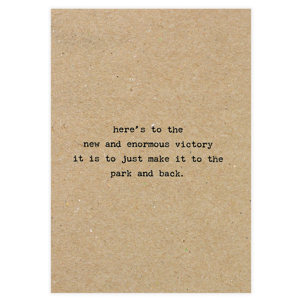 Dani Press Victory New Baby Greeting Card - GREER Chicago Online Stationery Shop
