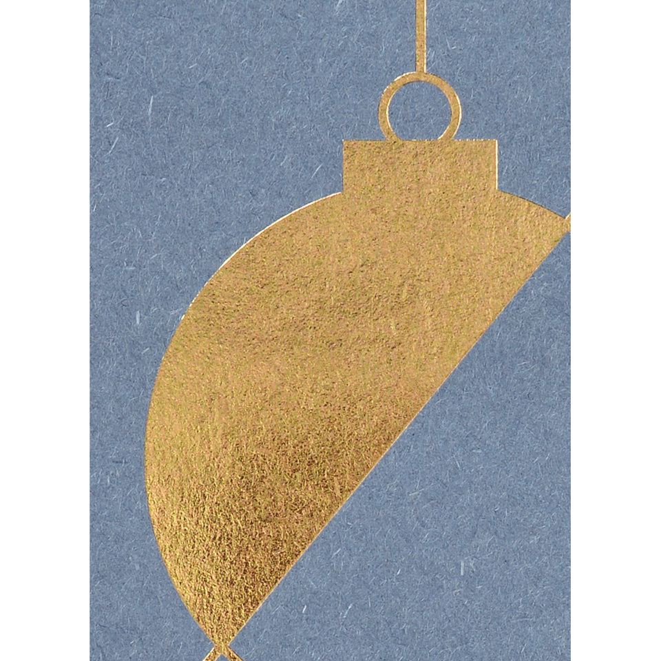 Darling Clementine Gold Foil Bauble Christmas Greeting Card