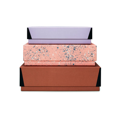 Darling Clementine Nesting Storage Box Set of Three Rust - GREER Chicago Online Stationery Shop