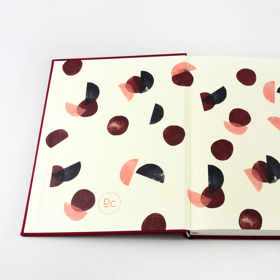 Darling Clementine Darling Clementine Notebook Burgundy Linen Lined