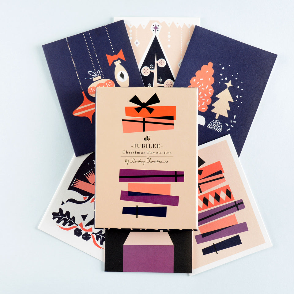 Darling Clementine Jubilee Christmas Cards Boxed
