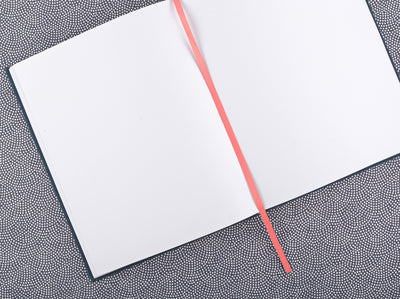 Darling Clementine Petrol Linen Journal - GREER Chicago Online Stationery Shop
