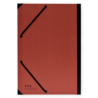 Darling Clementine Rust Linen Hardcover Folder - GREER Chicago Online Stationery Shop