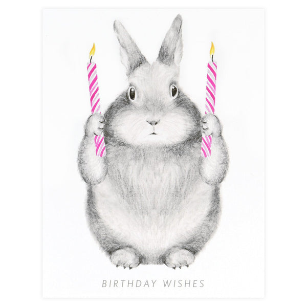 Birthday Wishes Bunny Greeting Card By Dear Hancock