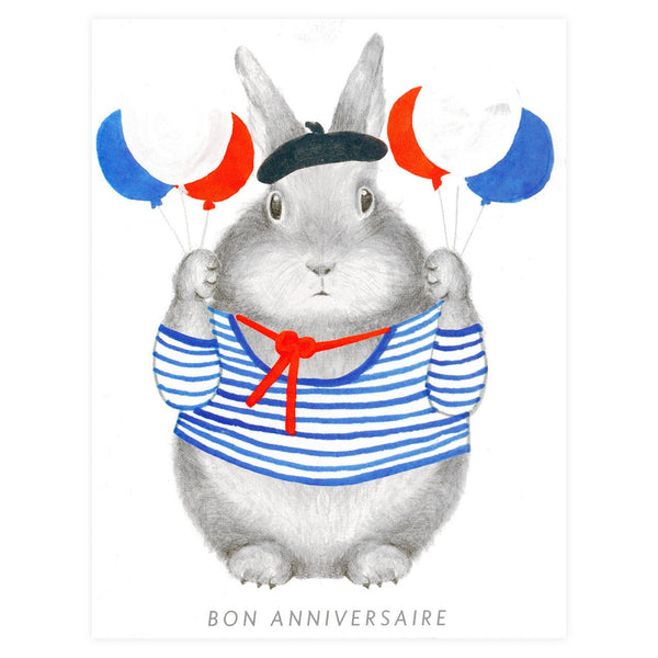 Bon Anniversaire Bunny Birthday Card By Dear Hancock