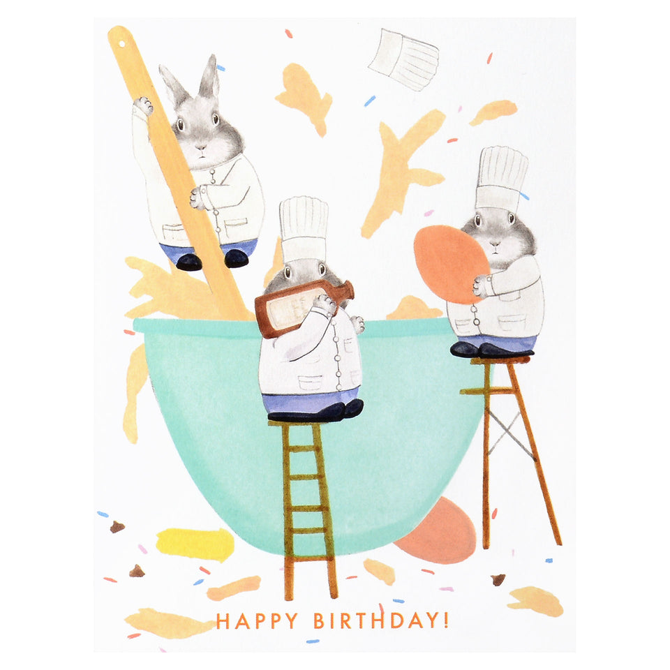 Dear Hancock Bunnies Cook Birthday Card