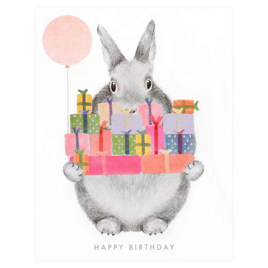 Birthday Gifts Bunny Greeting Card Dear Hancock  - GREER Chicago