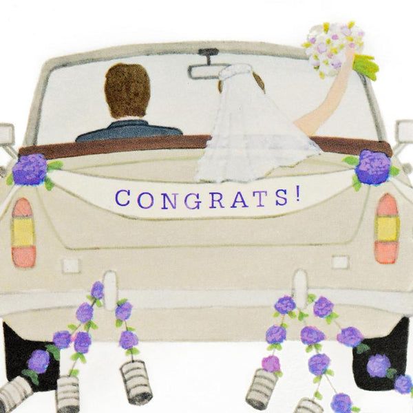 Congrats Wedding Car Greeting Card - GREER Chicago Online Stationery