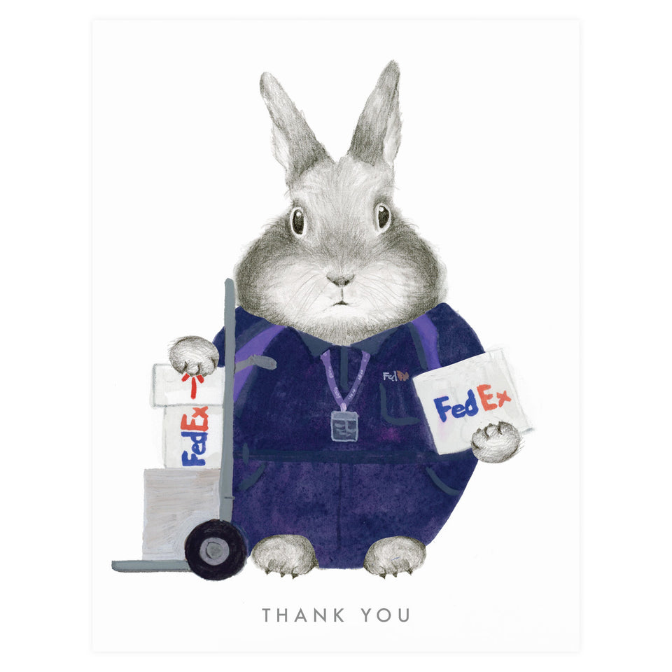 Dear Hancock Essential Worker FedEx Thank You Card