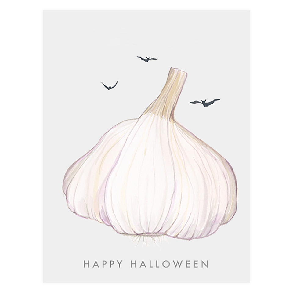 Dear Hancock Garlic Halloween Card