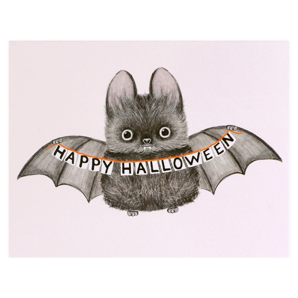 Dear Hancock Halloween Bat Greeting Card