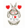 Dear Hancock I ❤ You Bunny Greeting Card