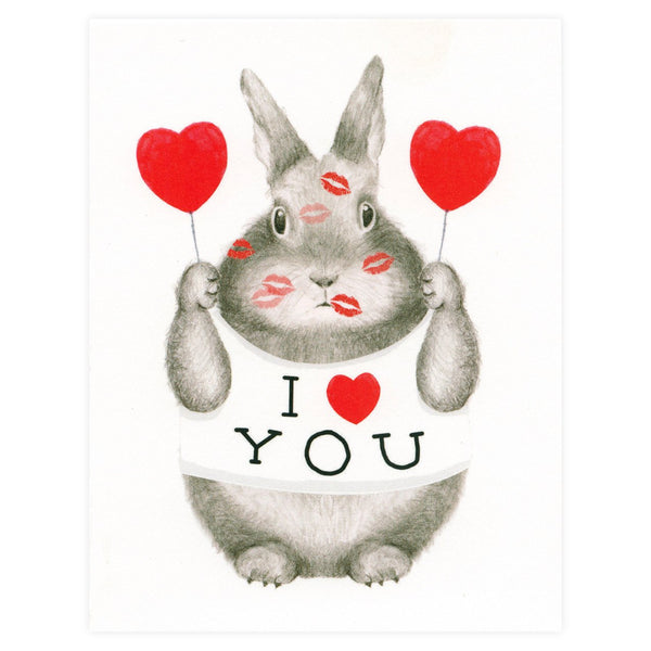 I ❤ You Bunny Greeting Card By Dear Hancock