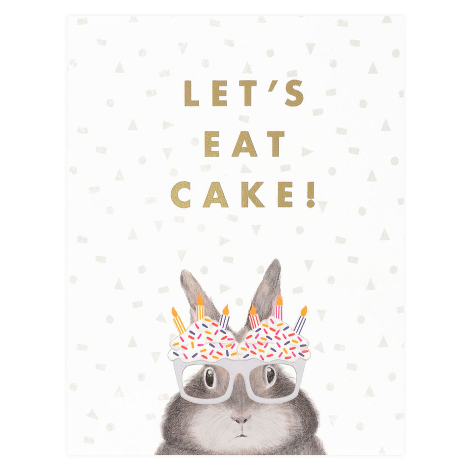 Dear Hancock Let's Eat Cake Birthday Card
