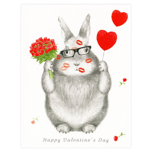 Love Bunny Valentine's Day Greeting Card By Dear Hancock