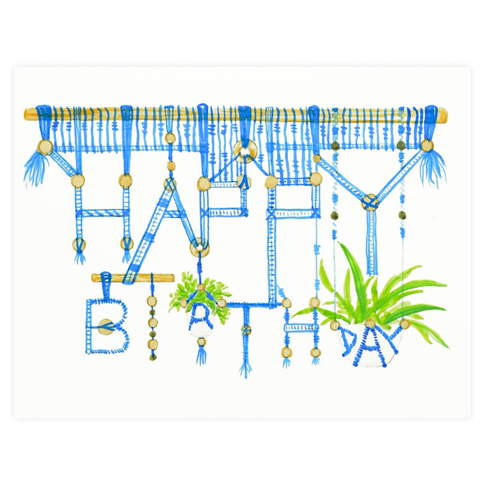 Dear Hancock Macrame Birthday Card