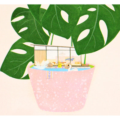Dear Hancock Modern House Plant Greeting Card